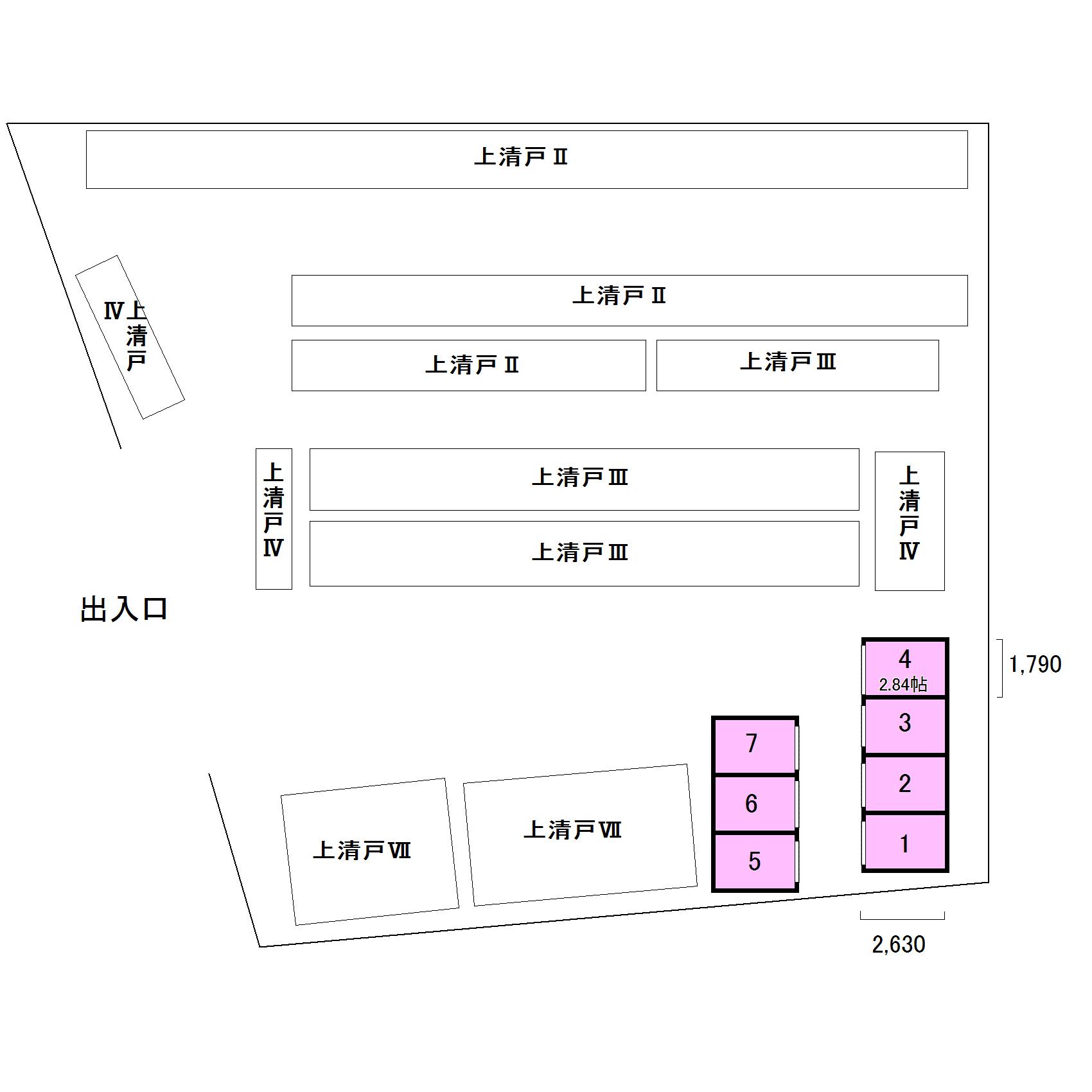 エヌピートランク上清戸Ⅴ(レイアウト図)
