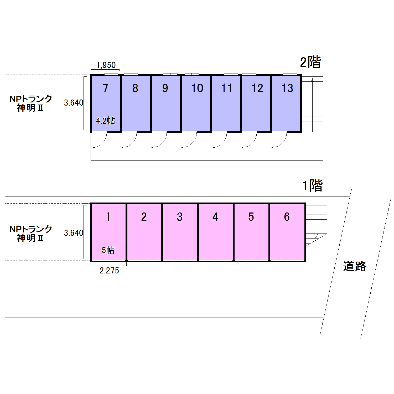 エヌピートランク神明(レイアウト図)