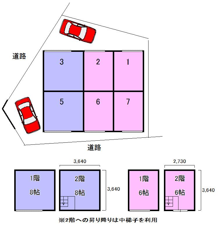 エヌピートランク下里1丁目Ⅱ(レイアウト図)