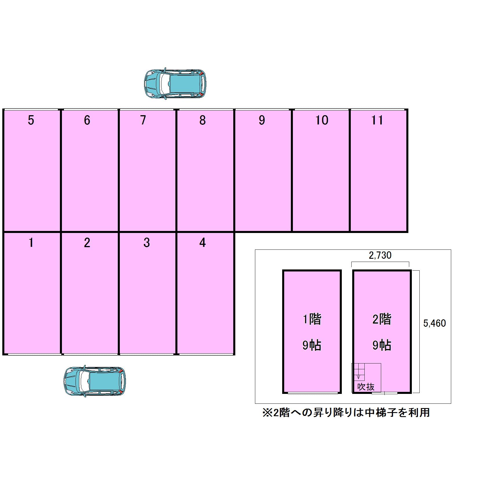 エヌピートランク元町Ⅱ(レイアウト図)