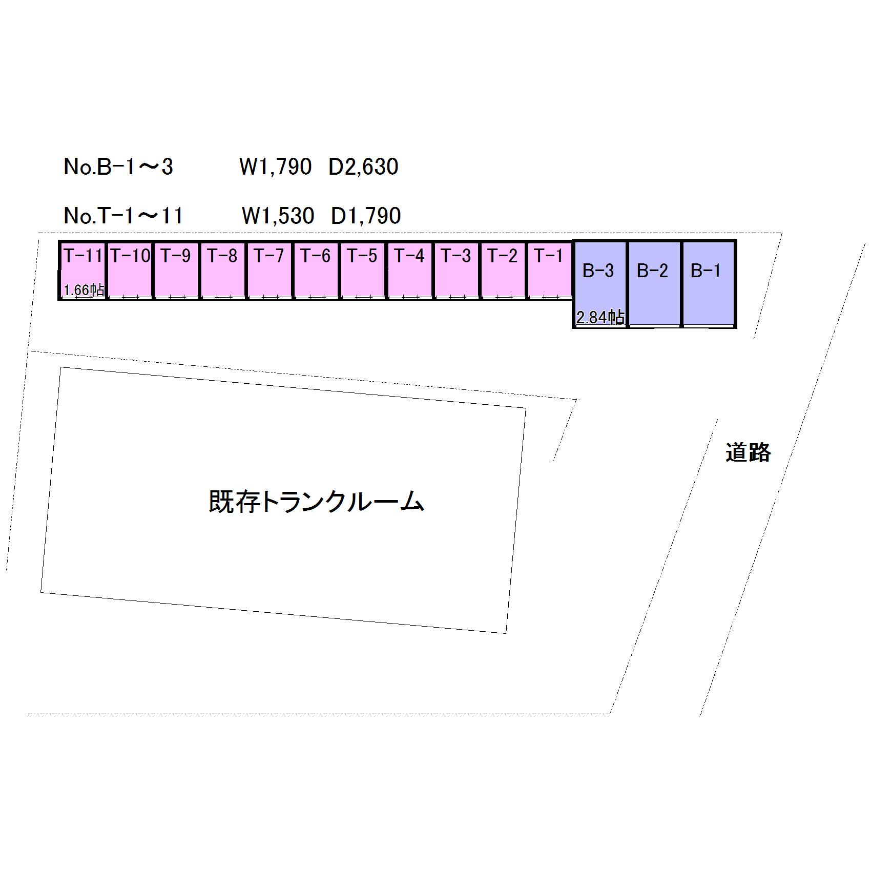 エヌピートランク中里2丁目Ⅱ(レイアウト図)
