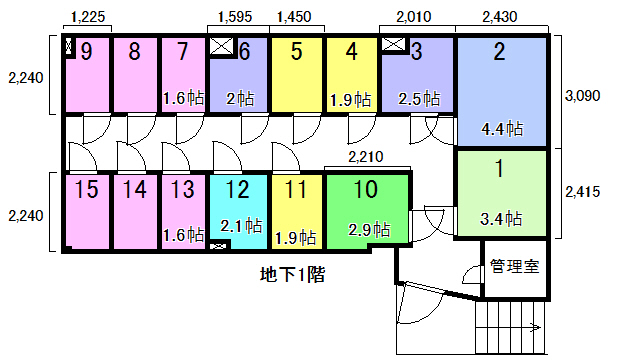 エヌピートランク東久留米(レイアウト図)
