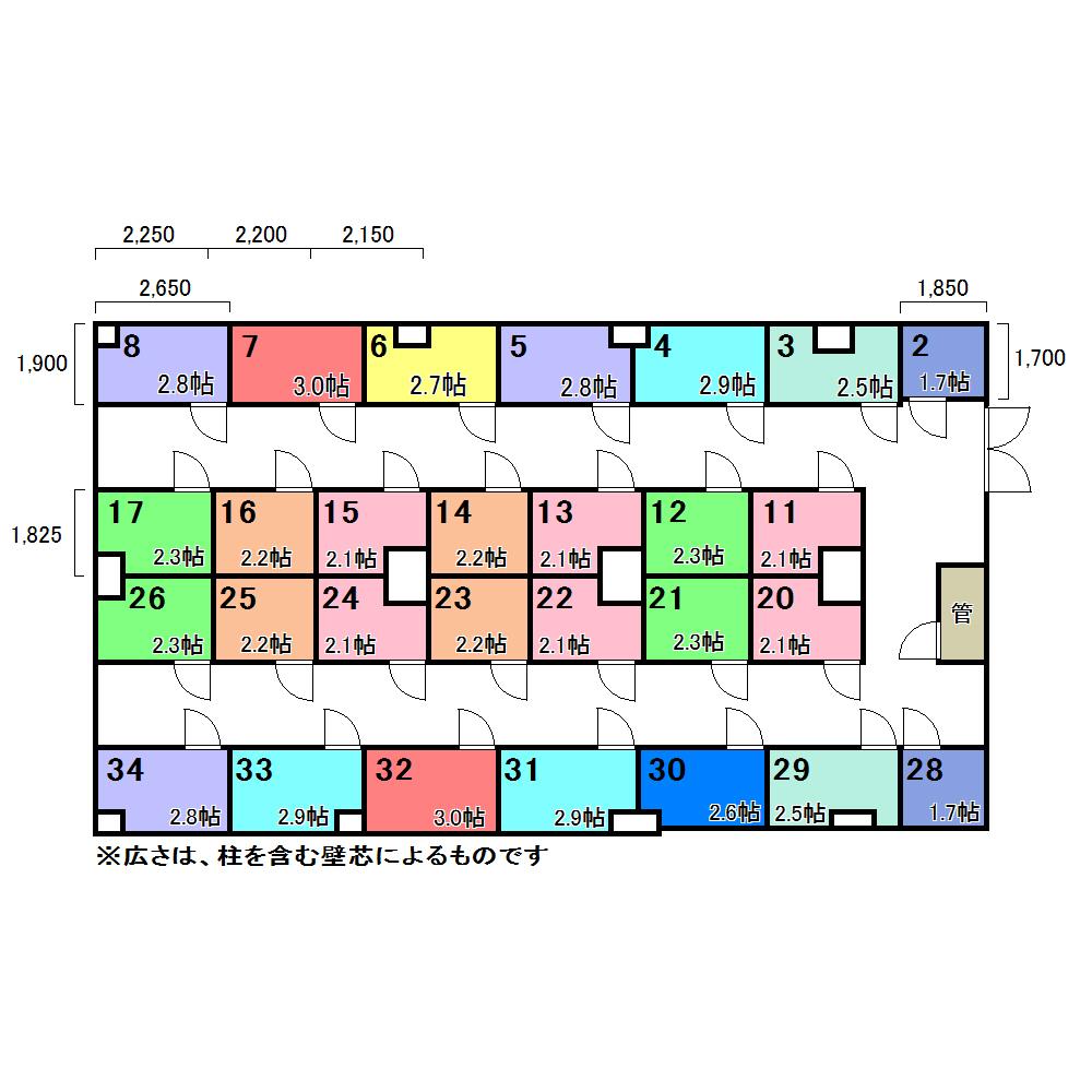 エヌピートランク大森西(レイアウト図)