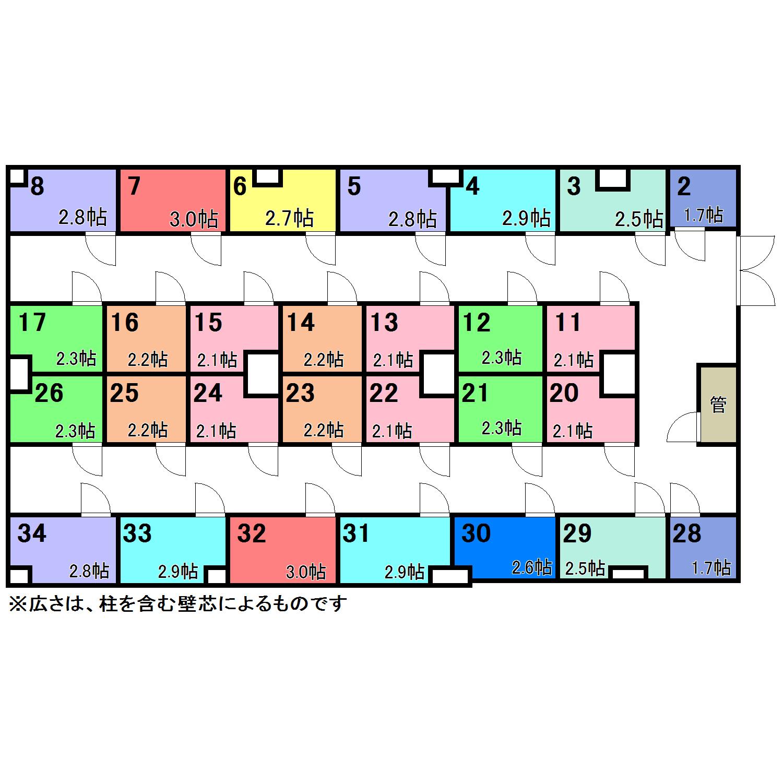エヌピートランク大森西(配置図)