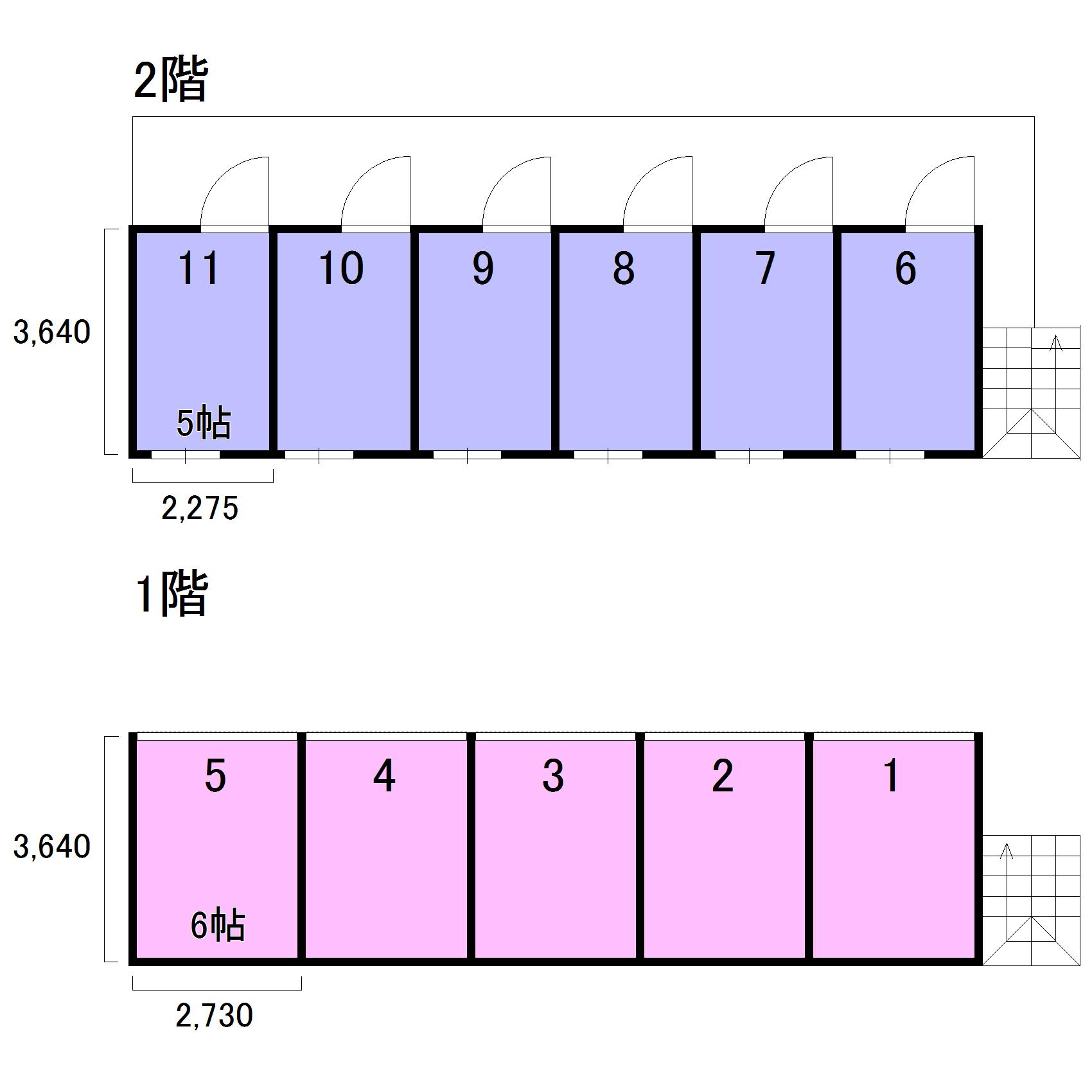 エヌピートランク桜堤(レイアウト図)