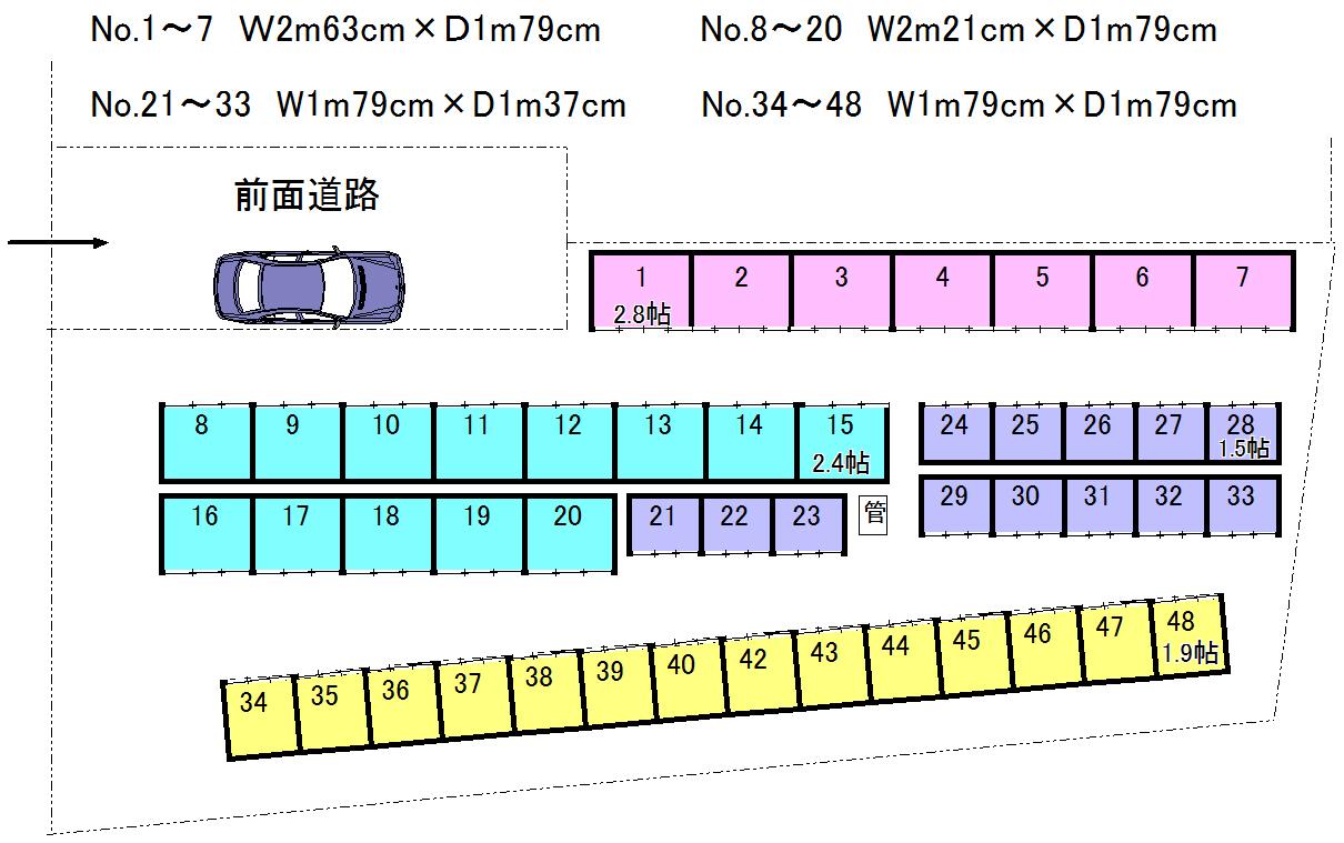 エヌピートランク清瀬元町(レイアウト図)