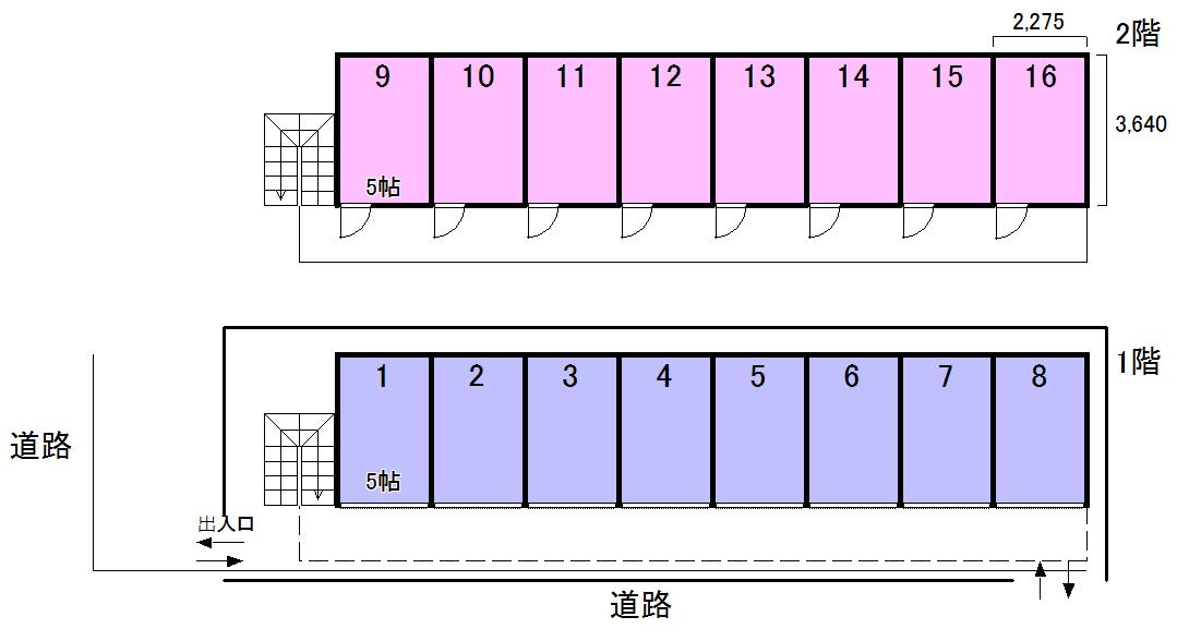エヌピートランク道(レイアウト図)