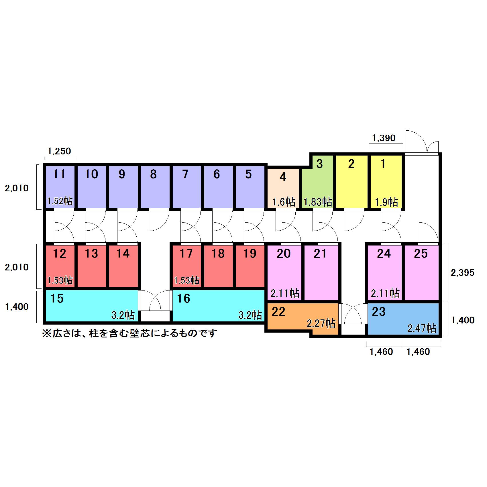 エヌピートランク緑町(レイアウト図)