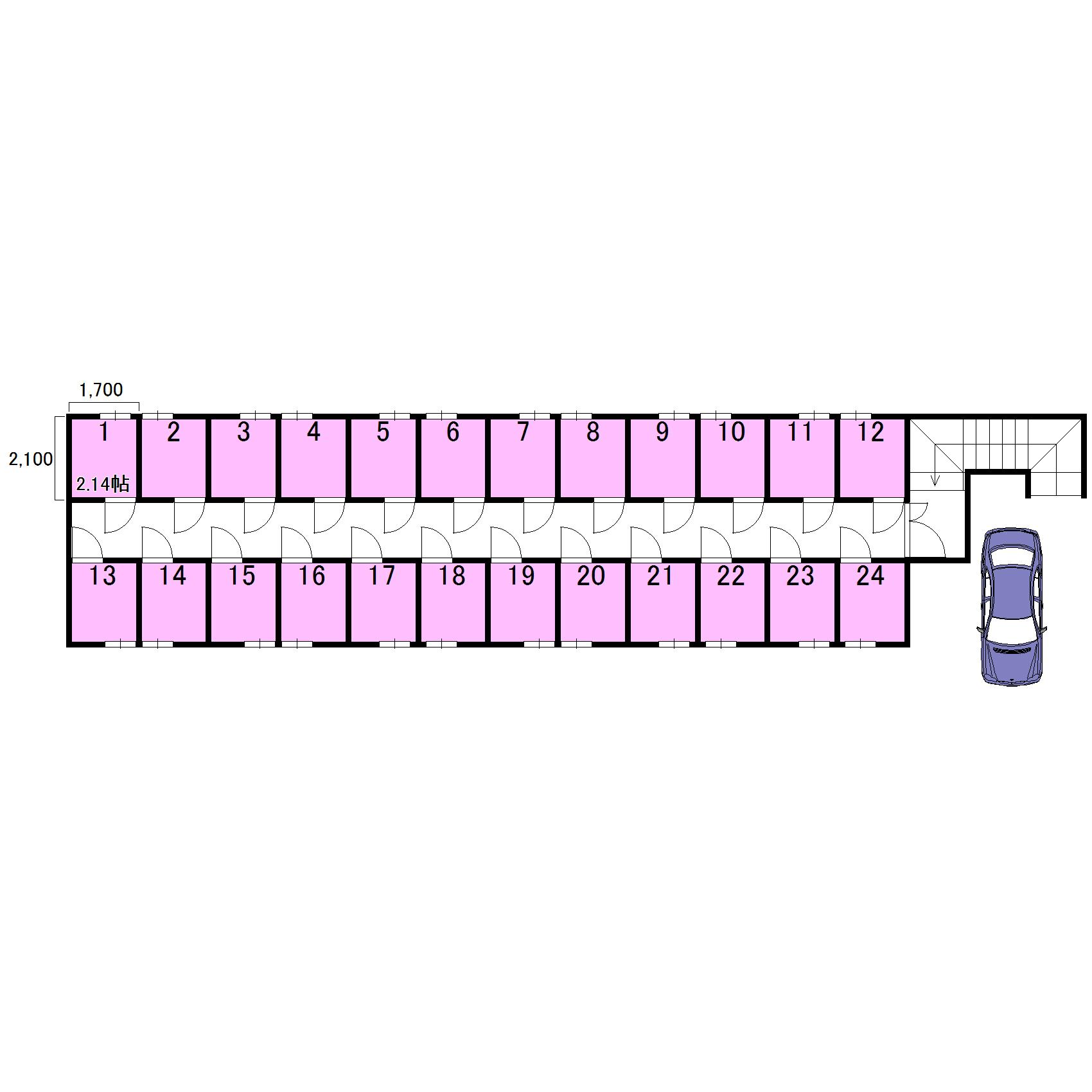 エヌピートランク桜堤Ⅱ(レイアウト図)