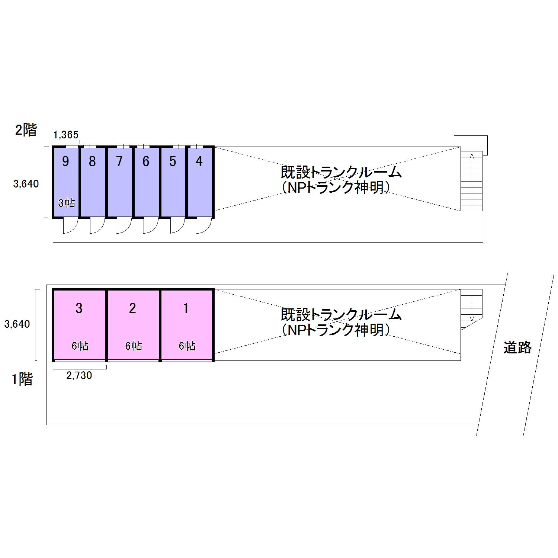 エヌピートランク神明Ⅱ(レイアウト図)