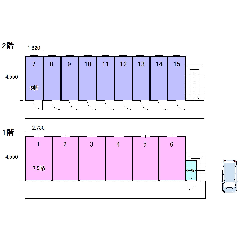 エヌピートランク小山4丁目(レイアウト図)