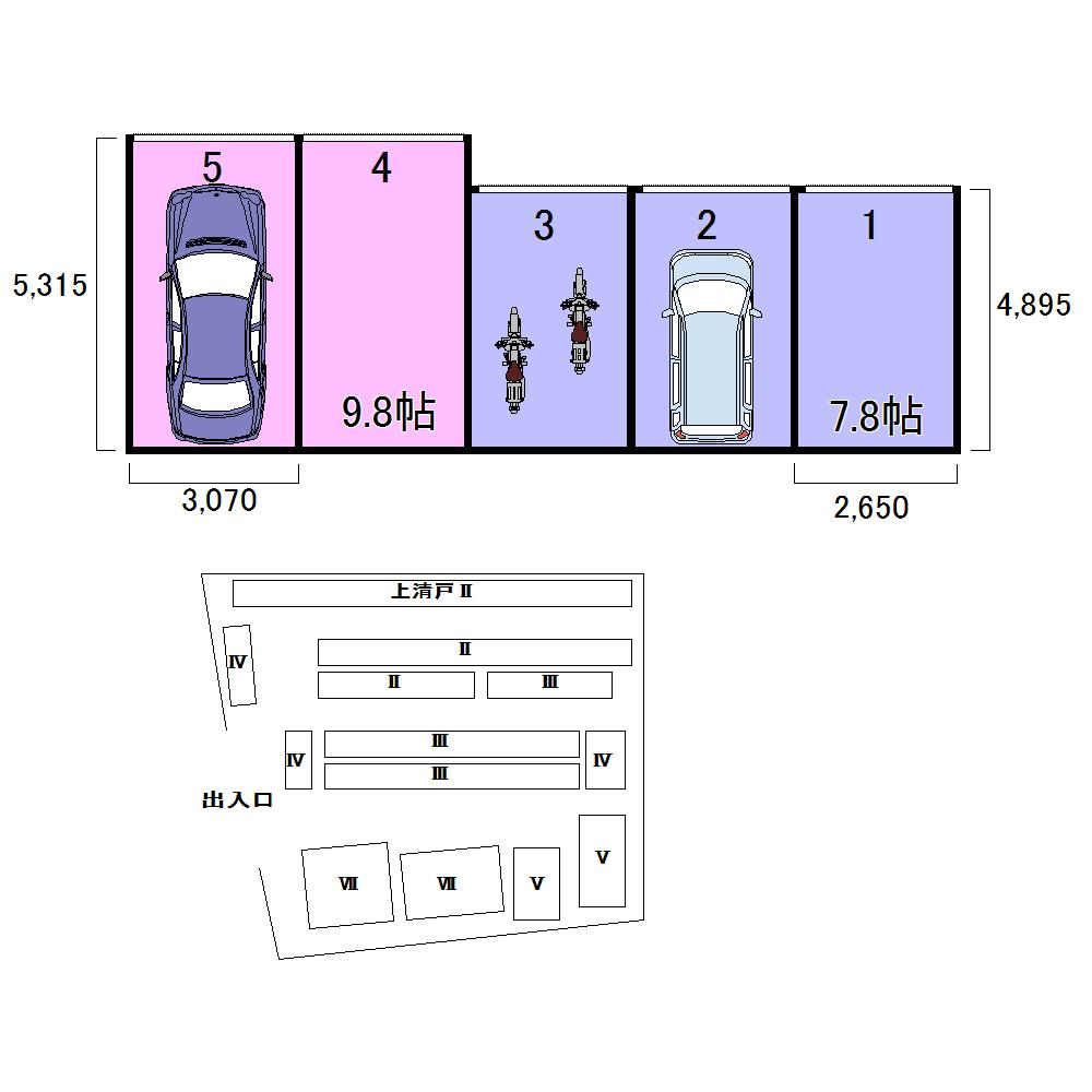 エヌピートランク上清戸Ⅶ(レイアウト図)