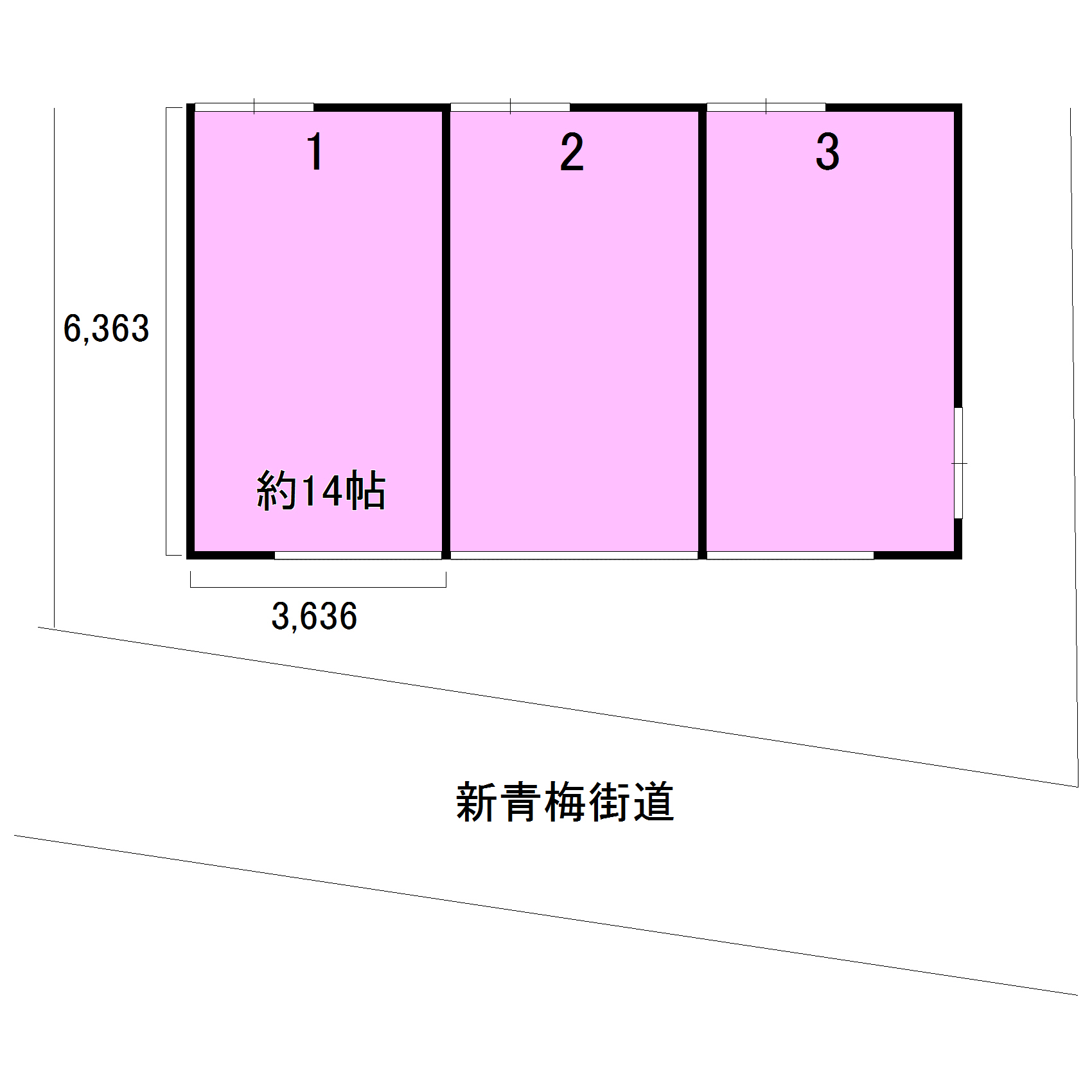 エヌピートランク大沼町(レイアウト図)
