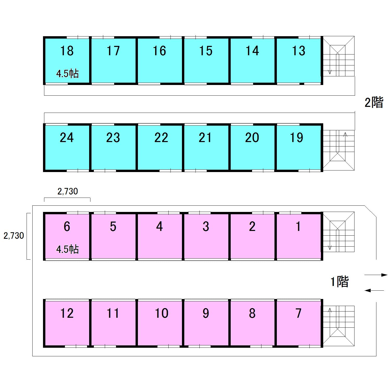 エヌピートランク原中(レイアウト図)