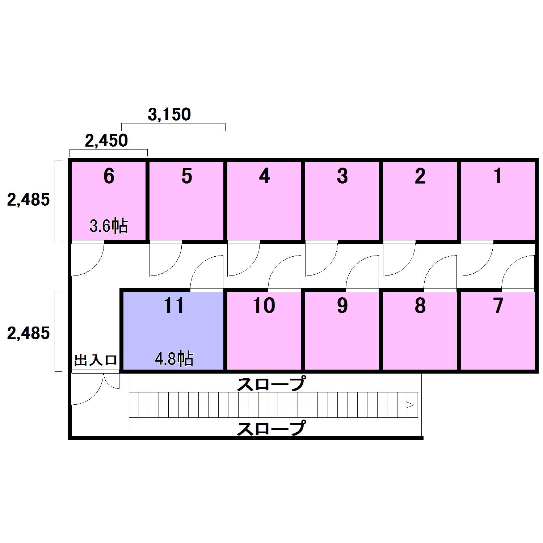 エヌピートランク東所沢(レイアウト図)