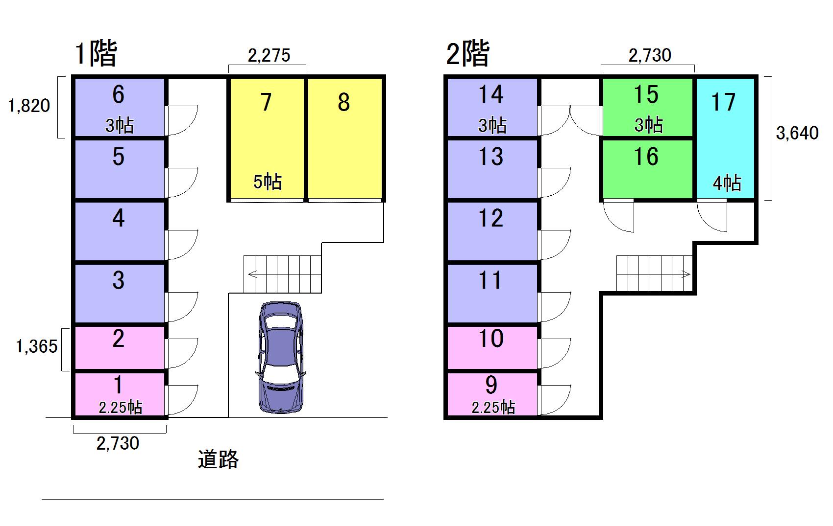エヌピートランク富士見(レイアウト図)