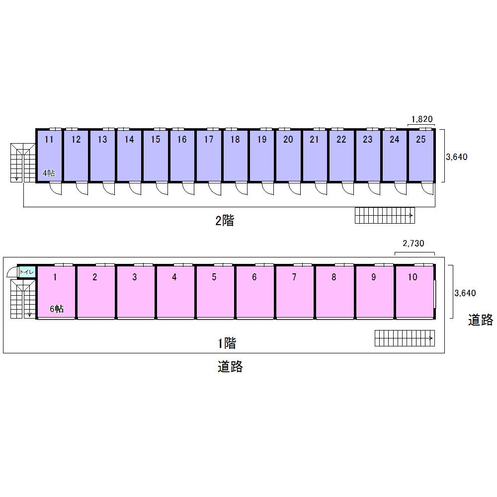 エヌピートランク小山5丁目(レイアウト図)