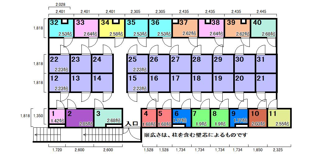 エヌピートランク亀有(レイアウト図)