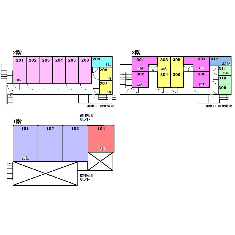 エヌピートランクタマキⅠ(レイアウト図)