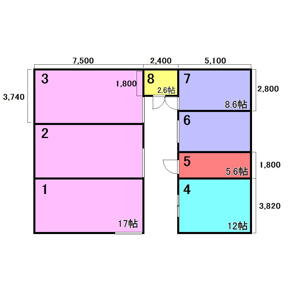 エヌピートランクタマキⅡ(レイアウト図)