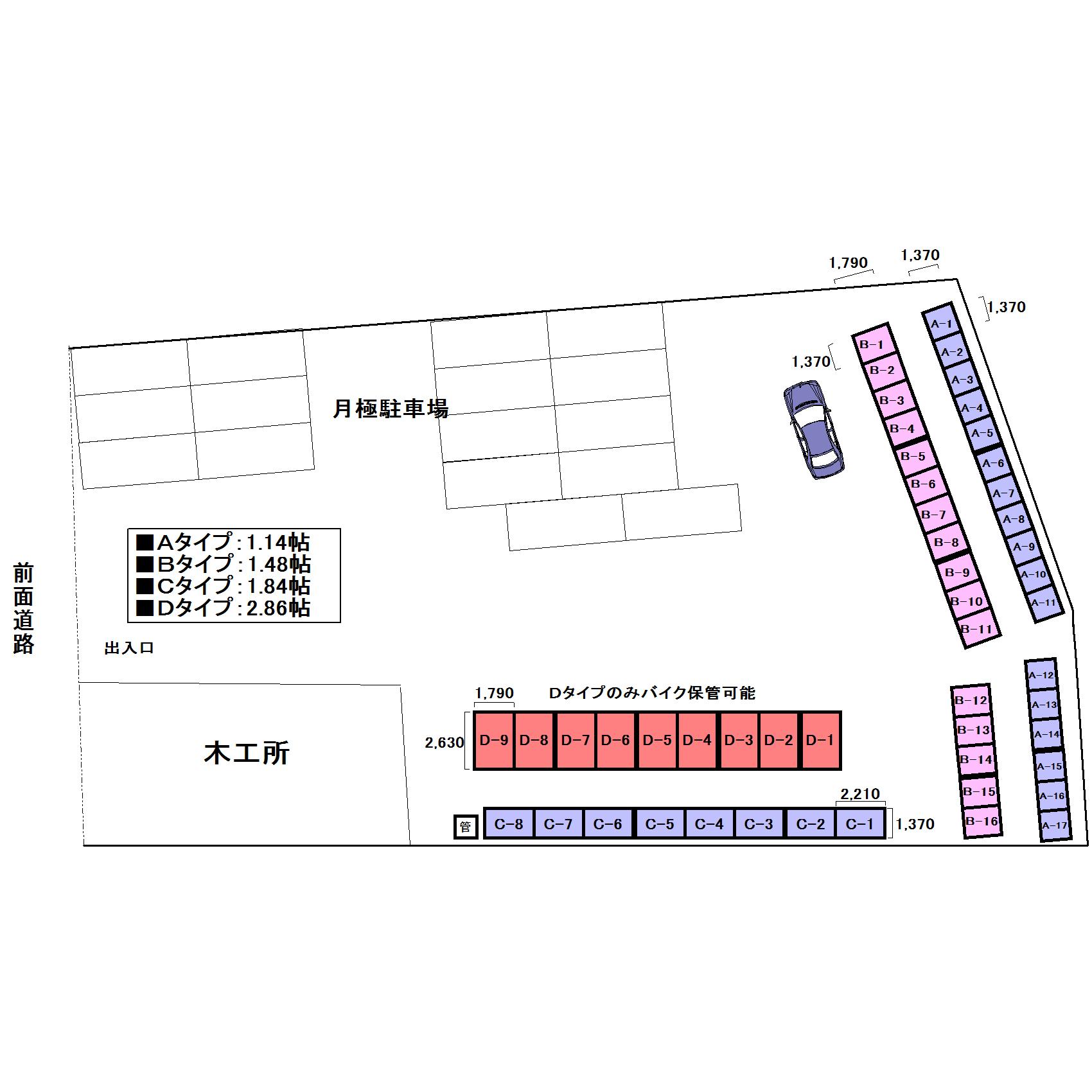 エヌピートランク秋津町4丁目(レイアウト図)