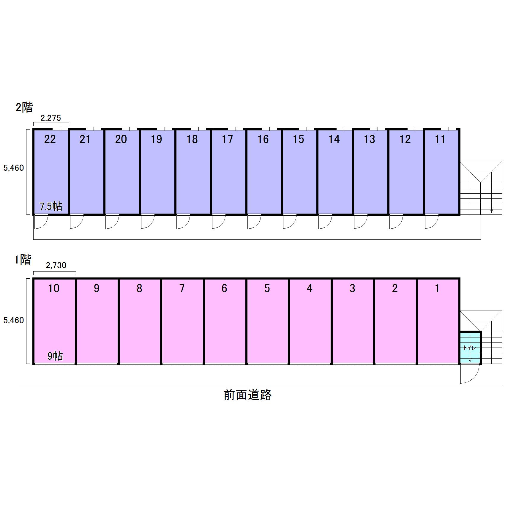 エヌピートランク柳沢(レイアウト図)