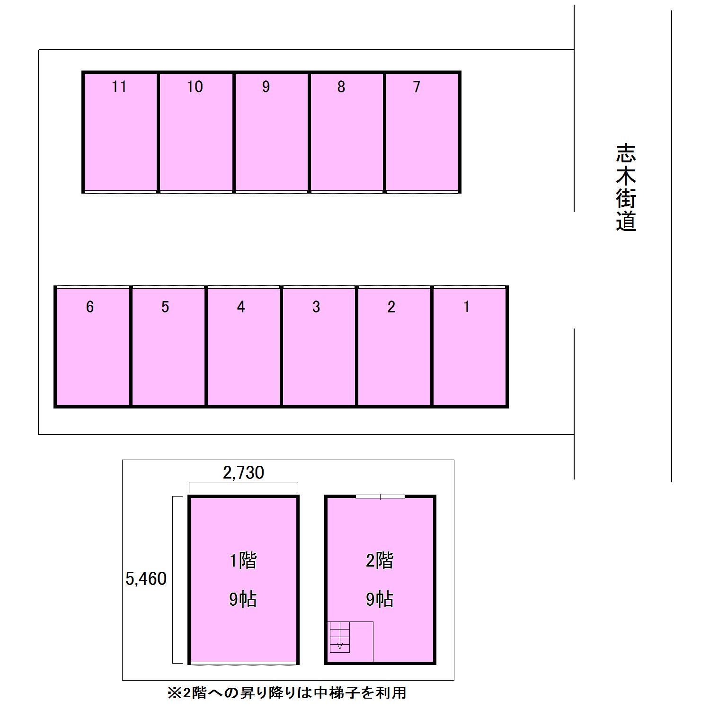 エヌピートランク清戸(レイアウト図)