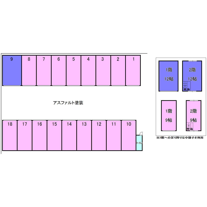 エヌピートランク下清戸Ⅰ・Ⅱ(レイアウト図)