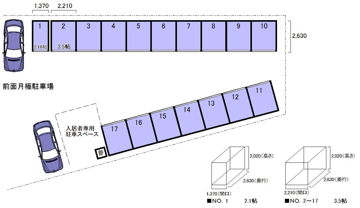 エヌピートランク新堀2丁目(区画図)