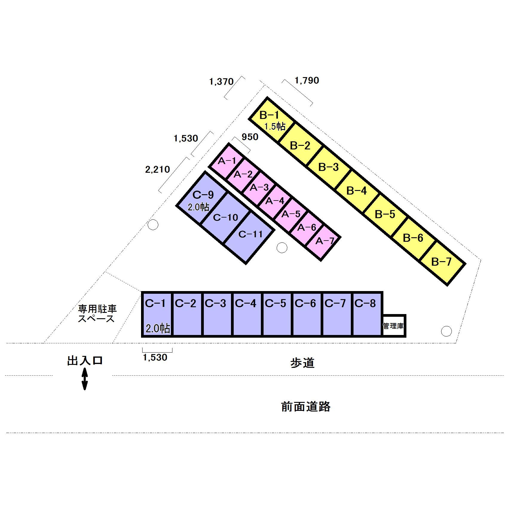 エヌピートランク新秋津(レイアウト図)