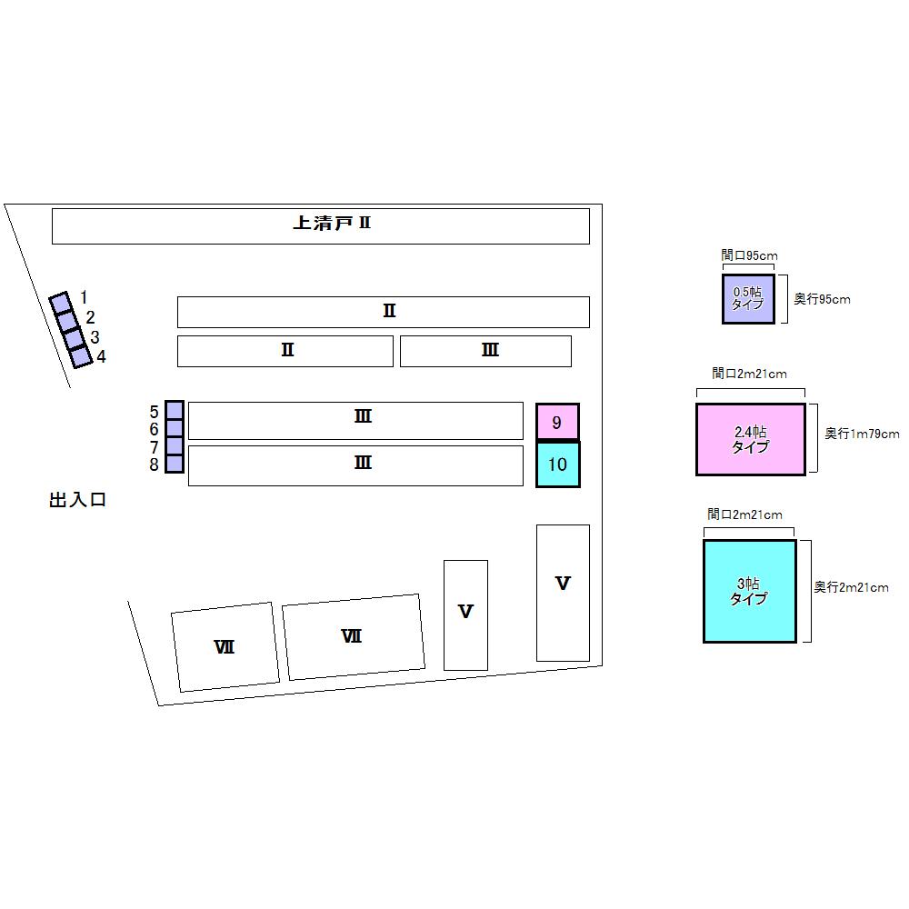 エヌピートランク上清戸Ⅳ(レイアウト図)