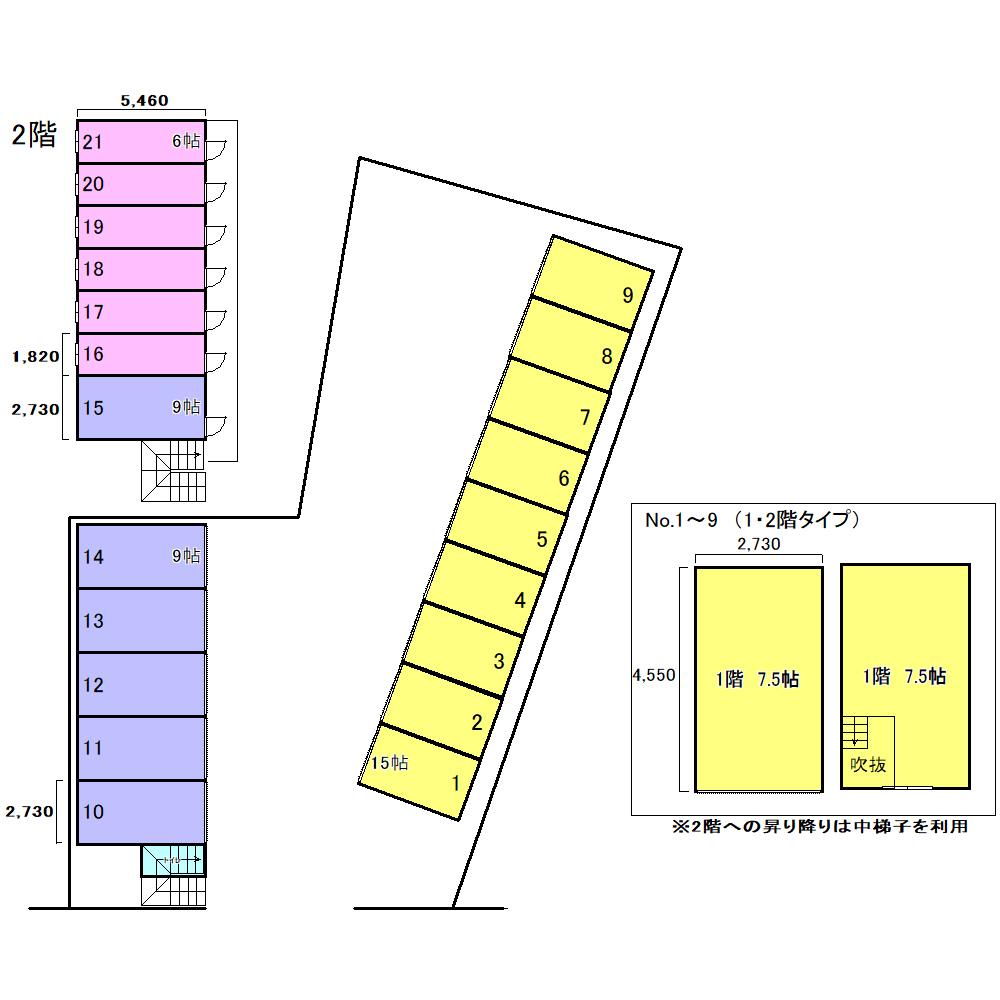 エヌピートランク下安松(レイアウト図)