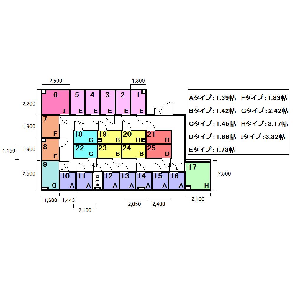 エヌピートランク狭山ヶ丘(レイアウト図)
