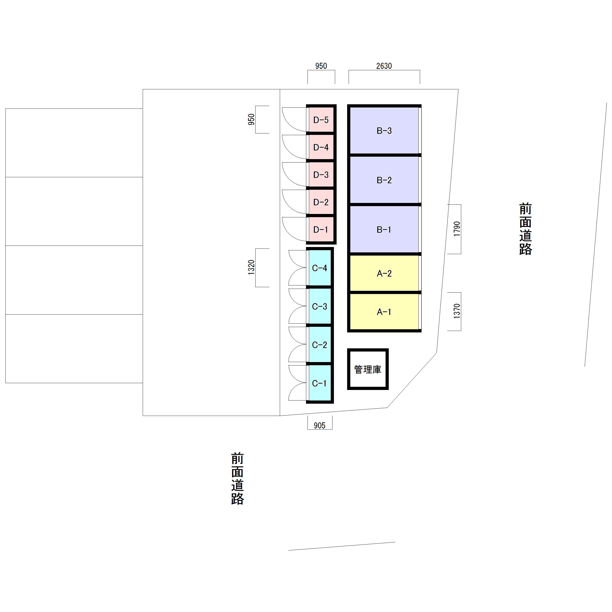 NPトランク清瀬元町Ⅱ(区画図)