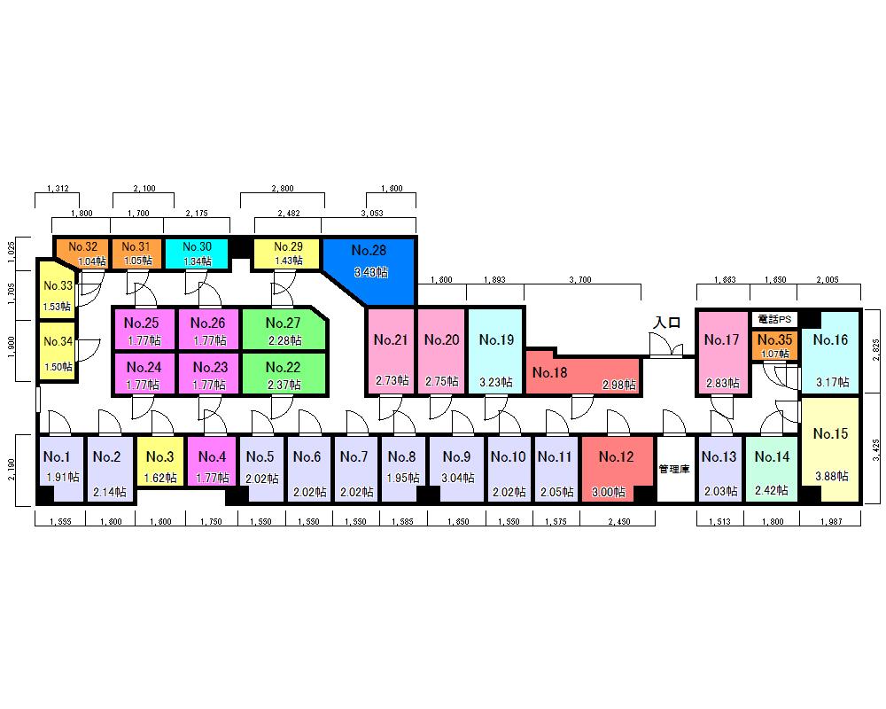 エヌピートランク入間市駅前(区画図)