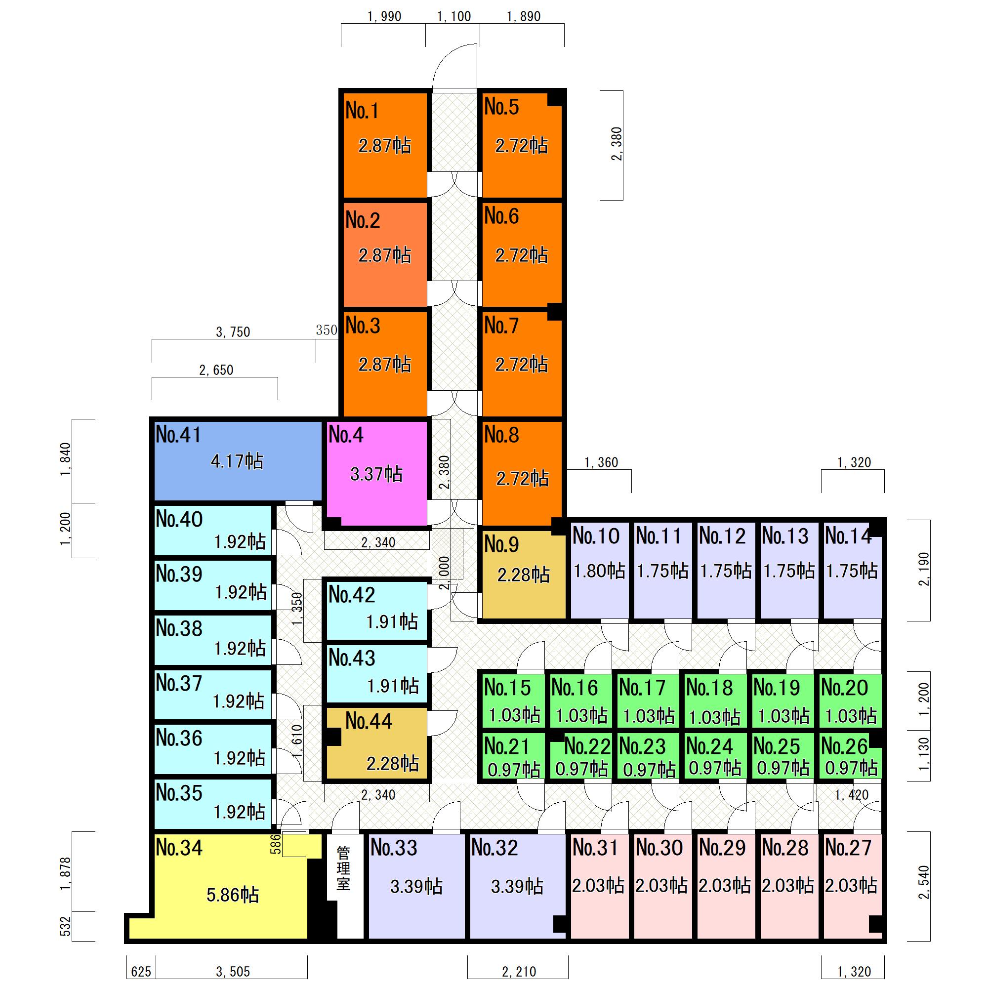 エヌピートランク武蔵村山市学園(区画図)