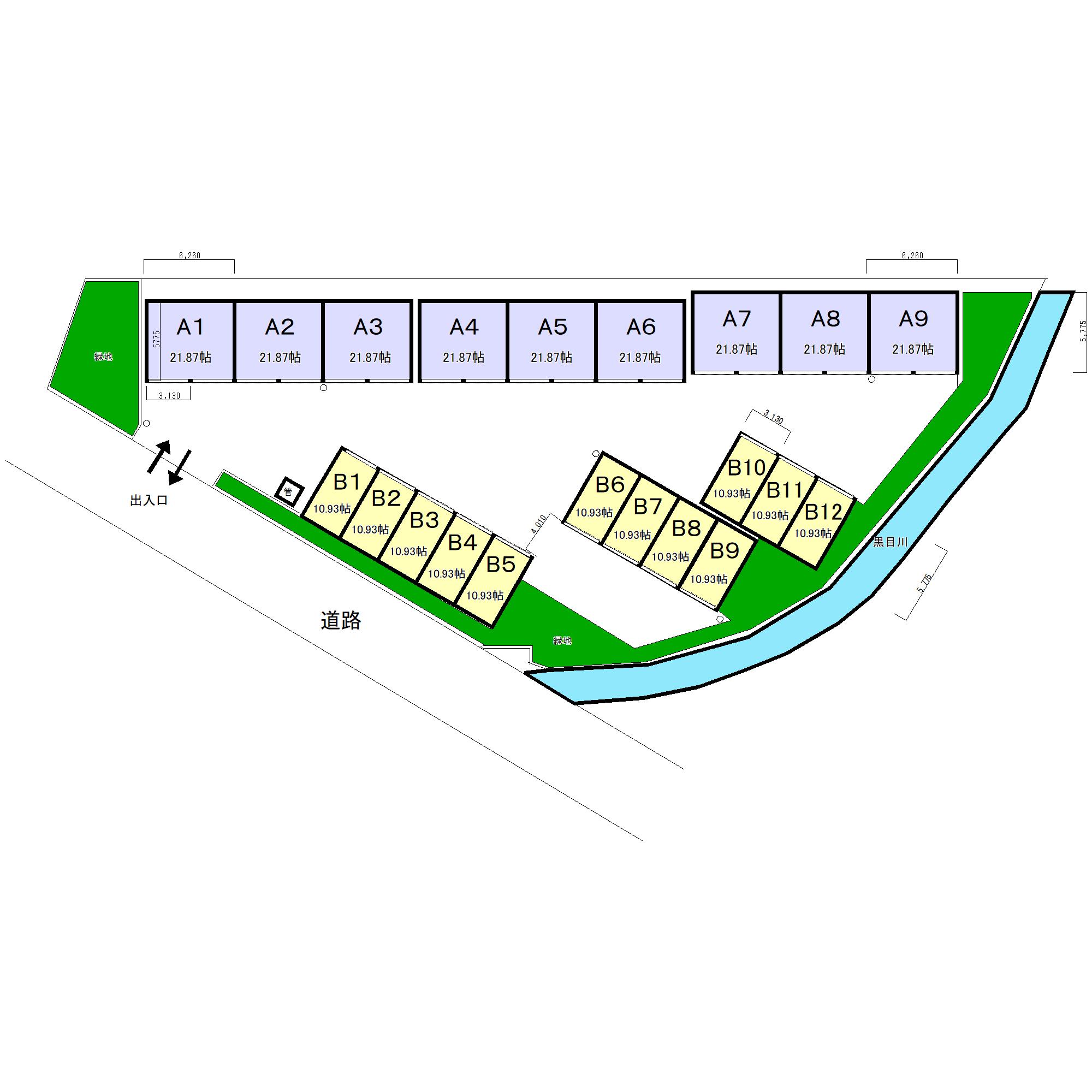 エヌピートランク柳窪5丁目(区画図)