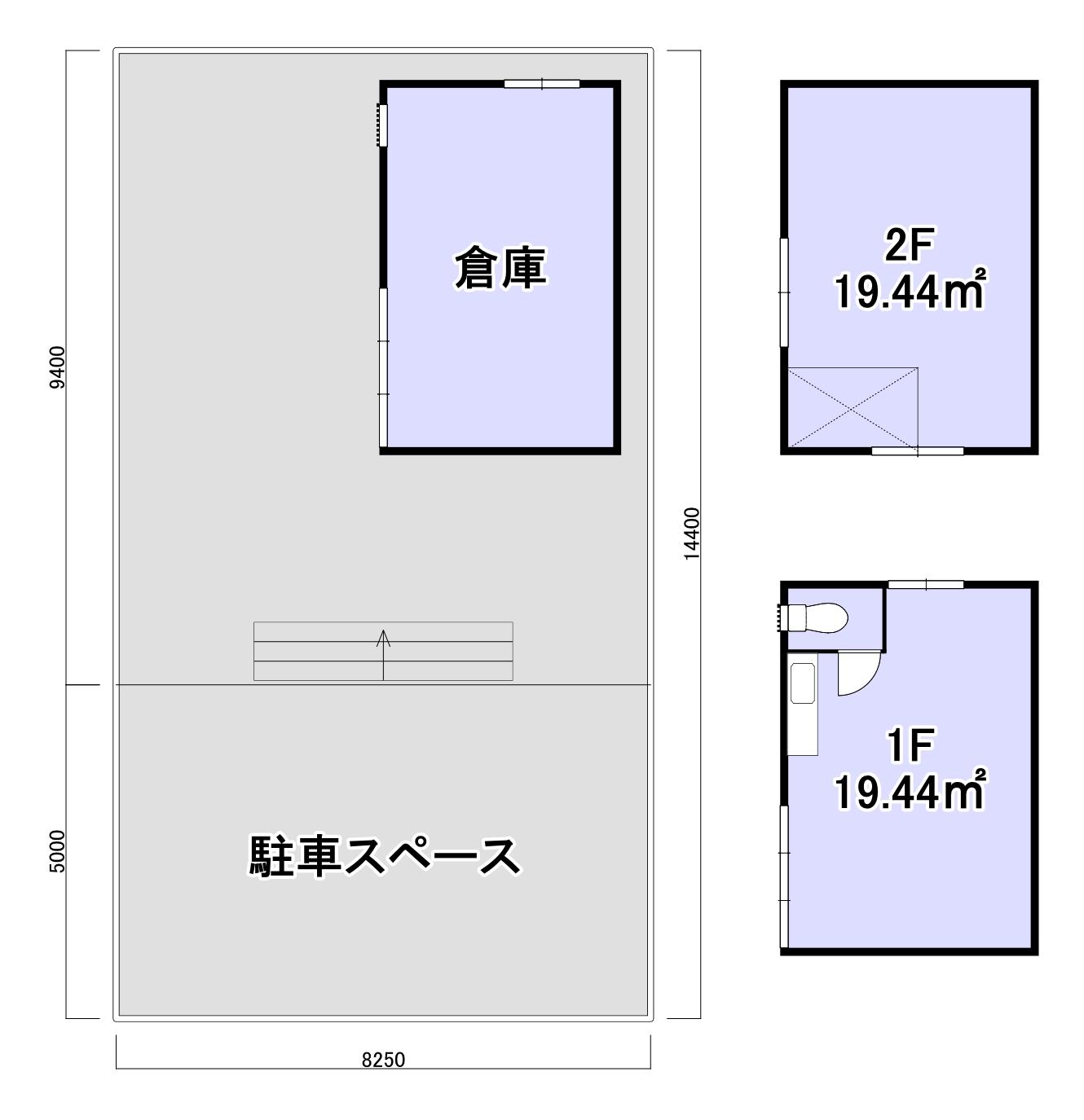 久米川町2丁目倉庫付事務所(間取り図)